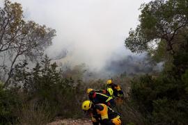 Un incendio forestal obliga a evacuar a una veintena de vecinos en Formentera