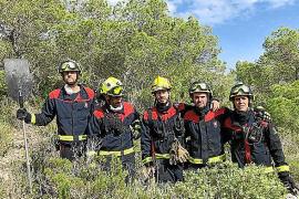 El Ibanat da por extinguido el incendio que calcinó 0,14 hectáreas de pinar en Formentera
