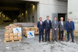 Incineran los 5.832 kilos de hachís interceptados en un velero en Ibiza