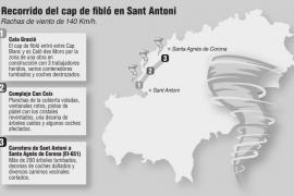 Así ha sido el recorrido del tornado en Sant Antoni