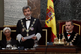 Lesmes considera un «exceso verbal» hablar de profanación de los restos de Franco