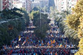 Manifestación contra la sentencia del 'procés' en Barcelona