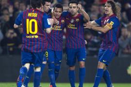 El Barça quiere la Liga y la tiene ahora a un punto (4-0)