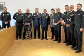 Formentera reconoce los méritos de cinco policías locales el día de su festividad