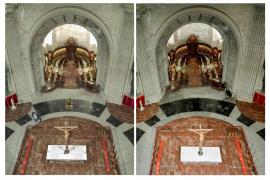 Moncloa difunde fotos del interior del Valle de los Caídos tras la exhumación