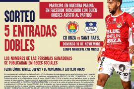 Sorteamos 5 entradas sobles para el partido entre el CD Ibiza y el San Rafael