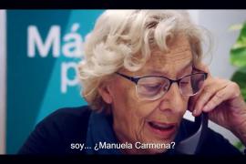 Manuela Carmena, pide el voto para Más País
