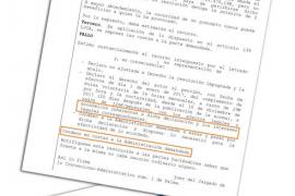 Imagen del texto de la sentencia