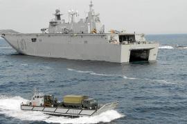 El buque insignia de la Armada española protagonizará un desembarco histórico en Ibiza