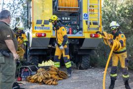El incendio forestal en Corona, en imágenes (Fotos: Toni. P.).