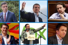 Los candidatos de los principales partidos políticos a la Presidencia del Gobierno