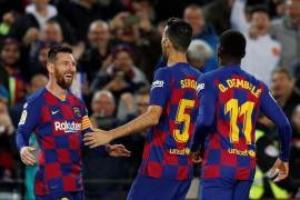 Un triplete de Messi y un tanto de Busquets deciden ante el Celta