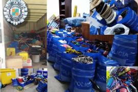 Sant Josep destruye el material de venta ambulante intervenido durante el verano
