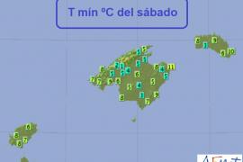 Ibiza registra este sábado temperaturas mínimas de 7 grados