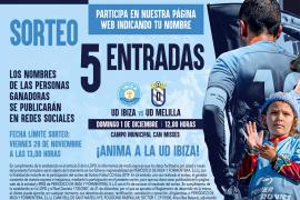Sorteamos 5 entradas para el partido entre la UD Ibiza y el Melilla