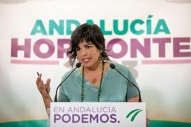 La coordinadora general de Podemos Andalucía y presidenta del grupo parlamentario de Adelante Andalucía, Teresa Rodríguez