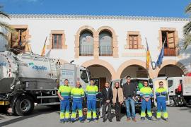 Nuevos vehículos y equipamiento para el servicio de aguas de Santa Eulària