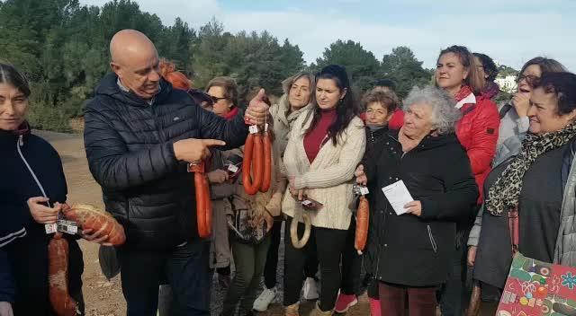 Una veintena de personas conocen al porc eivissenc y la sobrasada pitiusa en una jornada organizada por Ibiza Sabor 2019