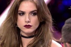 Carlota Prado durante la emisión del programa Gran Hermano, que emite Telecinco