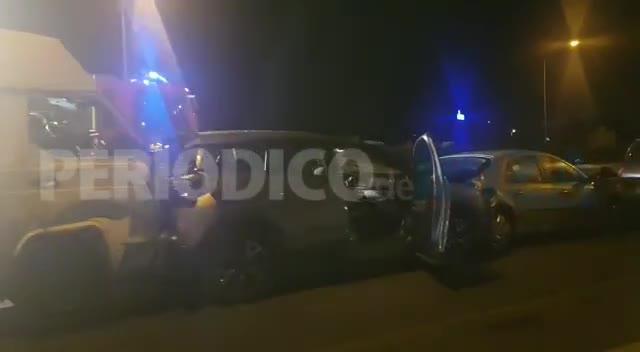 Seis heridos en una violenta colisión múltiple causada por una furgoneta en Ibiza