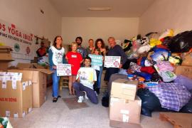 Ibiza envía 46 palets de material humanitario a los campos de refugiados de Grecia