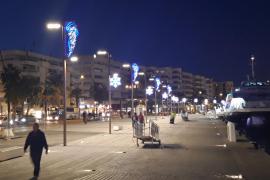 Ambiente navideño en los puertos pitiusos