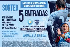 Sorteamos 5 entradas para el partido entre la UD Ibiza y el Marino de Luanco