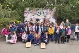 Alumnes del primer cicle de primària del Ceip Fra Juniper Serra de Petra, varen visitar Natura Parc