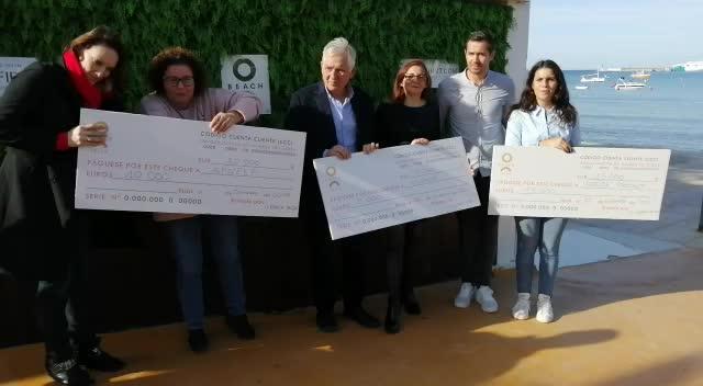 O Beach Ibiza reparte 35.000€ a cuatro asociaciones