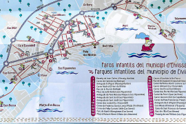 Un mapa con los 80 parques de Vila