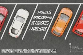 El Área de Salud recuerda al personal que tiene aparcamiento propio en Can Misses
