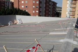 Empiezan las obras en la cubierta del pabellón de es Pratet