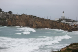 Nuevo temporal de lluvia y viento en las Pitiusas