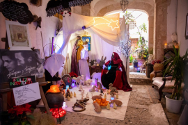 El tradicional belén de Traspas y Torijano, en imágenes .