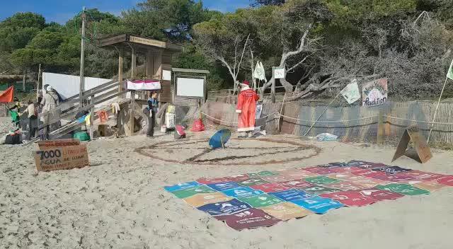 Extinction Rebellion Ibiza arranca el año con un acto a favor del medio ambiente