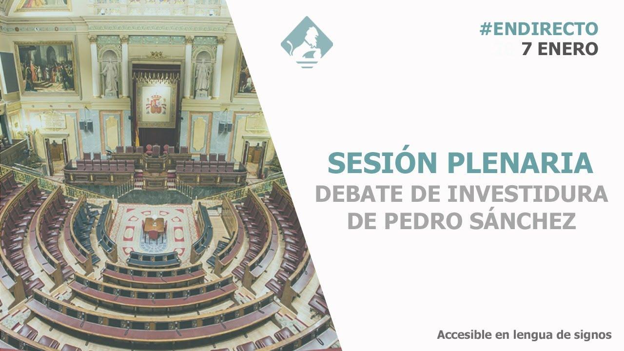 DIRECTO | Votación definitiva para la investidura de Pedro Sánchez