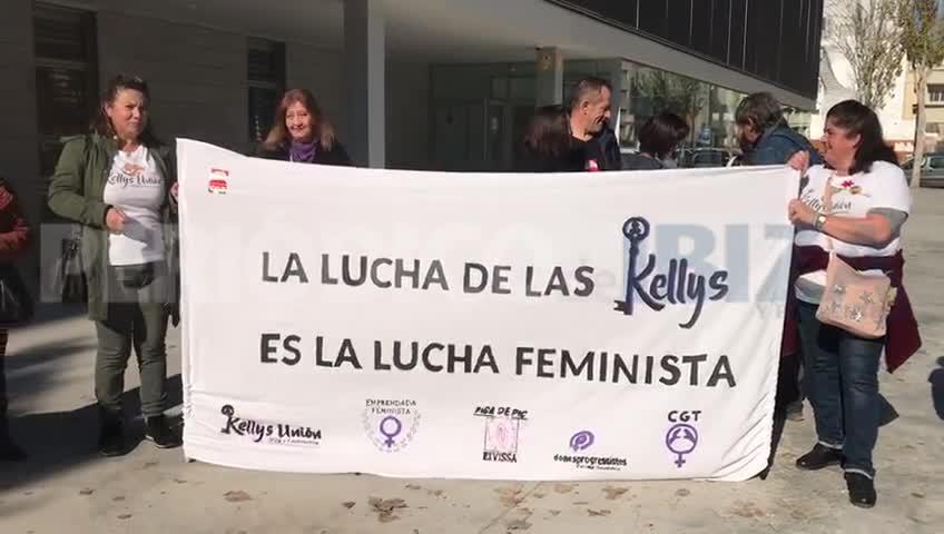 Las 'kellys' de Ibiza reclaman ante el Juzgado de lo Social mejores condiciones laborales