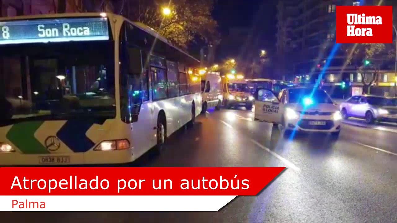 En estado crítico un hombre tras ser arrollado por un autobús en Palma