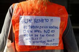 La manifestación de las 'kellys' de Can Misses, en imágenes (Fotos: Daniel Espinosa).