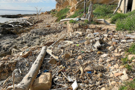 El voluntariado de Formentera vuelve a s'Estufador en la primera limpieza del año