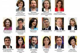 Estos son los ministros y vicepresidentes de Pedro Sánchez
