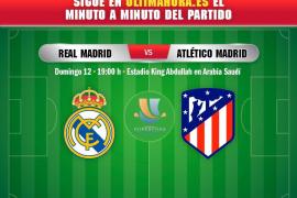 Real Madrid-Atlético de Madrid, en directo
