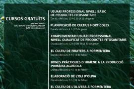 El Consell de Formentera duplica la oferta de cursos gratuitos para el sector agrícola y ganadero