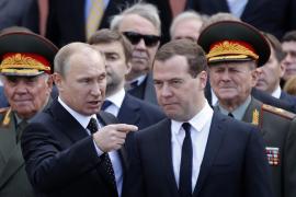 Vladimir Putin y Dmitri Medvédev.