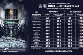 Entradas por 55 y 70 euros para ver el Ibiza - Barça
