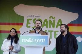 Santiago Abascal, Rocío Monasterio e Iván Espinosa de los Monteros