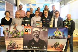 Recibimiento al piloto Toni Vingut por su participación en el Rally Dakar