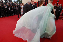 Jury members of the 65th Cannes Film Festival McGregor Devos and Kruger arrive on the red carpet for the screening of the film M
