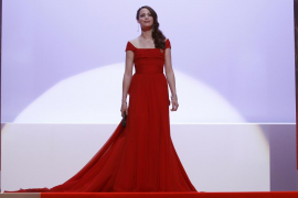 Mistress of ceremony of the 65th Cannes Film Festival Bejo arrives at the opening ceremony of the world's biggest film festival