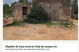 Alquilan una caseta de piedra en Ibiza por 1.200 euros